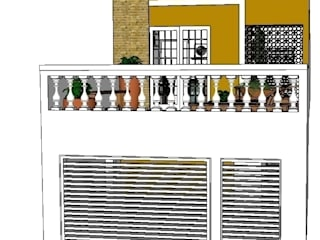 Rustic style house by Natali de Mello - Arquitetura e Arte Rustic