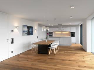 Minimalist dining room by Bermüller + Hauner Architekturwerkstatt Minimalist