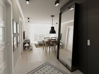 Scandinavian style corridor, hallway& stairs by The Vibe Scandinavian