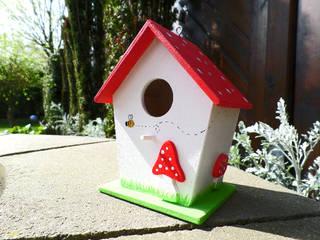 Deko-Vogelhaus Fliegenpilz:   von Die kleine Holzhütte