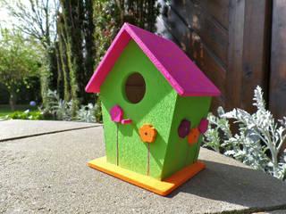 Deko-Vogelhaus Blumen:   von Die kleine Holzhütte