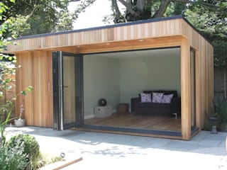 Garden Room in High Barnet, London: modern Garden by Office In My Garden