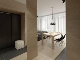 Minimalist corridor, hallway & stairs by The Vibe Minimalist