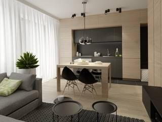 Minimalist dining room by The Vibe Minimalist
