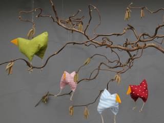 Hühnerfamilie  zu Ostern und Frühling: modern  von Rosenbluete,Modern