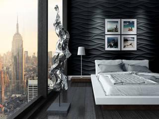 غرفة نوم تنفيذ Loft Design System Deutschland - Wandpaneele aus Bayern