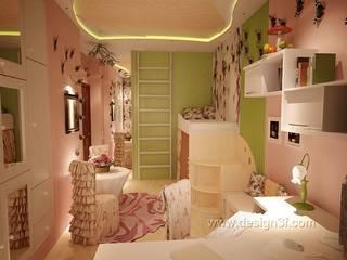 Chambre d'enfant moderne par студия Design3F Moderne
