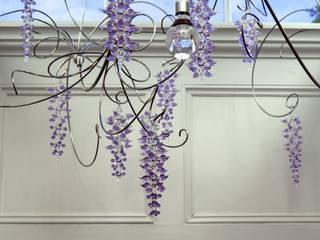 Wisteria chandelier:  Corridor & hallway by Neil Wilkin Bespoke chandeliers & Glass Sculpture