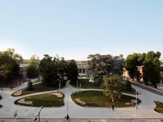 Riqualificazione Piazzale della Stazione di Cremona Giardino moderno di Studio di Architettura Fabio Nonis Moderno