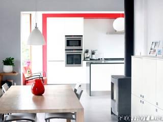 Extension CS à Marche les Dames: Cuisine de style  par François Elleboudt architecte SPRL