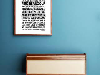 AFFICHE ADHESIVE HOME RULES:  de style  par MES MOTS DECO