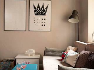 Kamienica przy Łazienkach: styl , w kategorii Salon zaprojektowany przez Pracownia Projektowa Poco Design