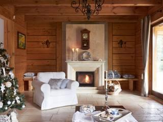 Pracownia Projektowa Poco Design Rustikale Wohnzimmer