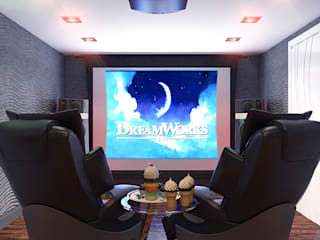 Media room by Your royal design, Minimalist