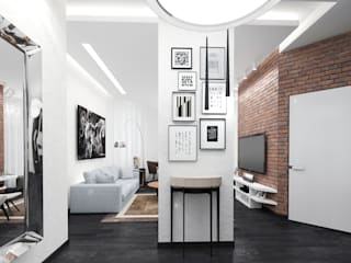 Industrial style corridor, hallway and stairs by pashchak design Industrial