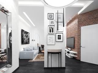 Projekty,  Korytarz, przedpokój zaprojektowane przez pashchak design,