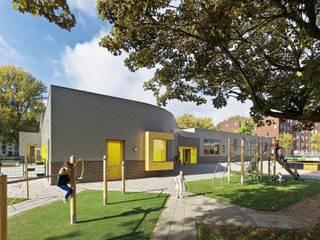 Gevel aan de Johan Willem Frisostraat (Foto: Petra Appelhof):  Scholen door Ector Hoogstad Architecten
