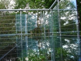 Glasbalkon am Klinkerhaus Moderner Balkon, Veranda & Terrasse von Krauss GmbH Modern
