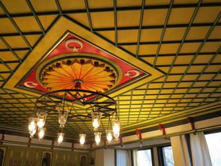 Başoda Tavan Klasik Oturma Odası Türk Evi Kütüphanesi Klasik