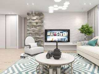 Ruang Keluarga Gaya Mediteran Oleh pashchak design Mediteran