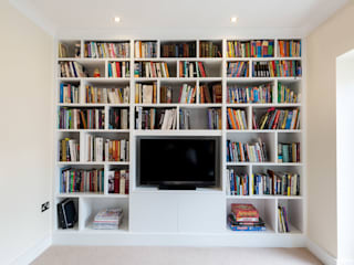 Fitted Media Unit: modern Media room by Acastrian Bespoke Fitted Furniture
