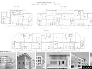 Terrarossa Housing Sociale – Buggiano (PT) -2014 Case moderne di Studio la Piramide Architettura e Urbanistica Moderno