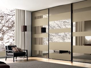 segmenta - Sliding glass door wardrobes Lamco Design LTD BedroomWardrobes & closets