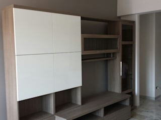 Progetto di interni per un appartamento di una giovane coppia - Roma, Via Val di Non Soggiorno moderno di Roberta Rose Moderno