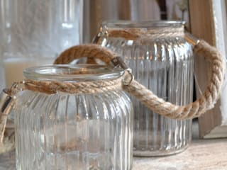 Charming Rope T light holders:   by Tina Bucknall