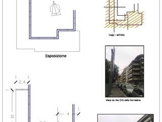 Idea di progetto di un terrazzo - Roma, Via Orti della Farnesina Roberta Rose