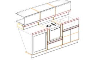"""Progetto di Dinette, Zona Carteggio e cucina per barca a vela 43"""" , l'attuale Moro Di Venezia XXVII Roberta Rose"""
