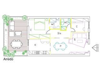 Idea di progetto Appartamento , Roma Zona Monteverde di Roberta Rose