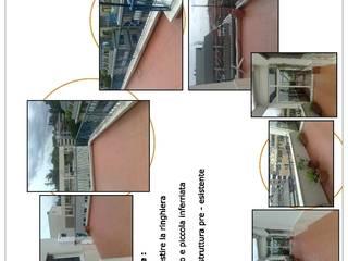 Idea di progetto di un terrazzo - Roma, Via Orti della Farnesina di Roberta Rose