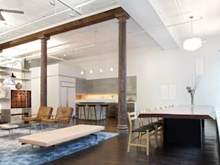 Greene Street Loft Industrial style dressing room by Slade Architecture Industrial