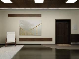Частный дом в стиле минимализм. Гостиная в стиле минимализм от Цунёв_Дизайн. Студия интерьерных решений. Минимализм