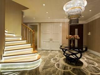 Pasillos y hall de entrada de estilo  por BABA MİMARLIK MÜHENDİSLİK,