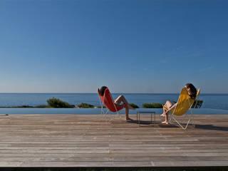 Maison Piscine, St Cyr sur Mer Piscine méditerranéenne par MOA architecture Méditerranéen