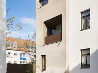 Wohn-Ensemble Hähnelstraße Minimalistische Häuser von quartier vier Architekten Landschaftsarchitekten Minimalistisch