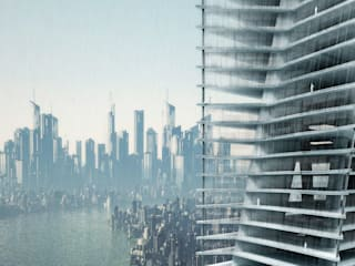 MIKADO TOWER: Spazi commerciali in stile  di BE.ST  BELINGARDI STEFANO ARCHITECTS