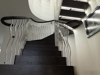 Poole Staircase and Sculptural balustrade:  Corridor & hallway by Zigzag Design Studio (Sculptural Structures), Modern