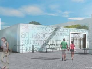 Rénovation d'une piscine publique Stades modernes par NAOM Moderne