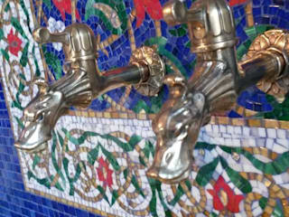 Хаммам в частном доме, Подмосковье, Новогорск, 2014:  в . Автор – Мастерская 'Мир мозаики и витража'
