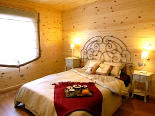 Chambre moderne par Casas Natura Moderne