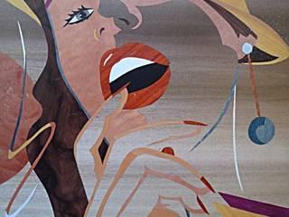 Delphine par ciamarone marqueterie d'art Moderne