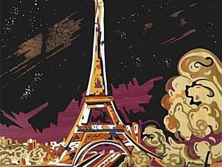 Une nuit à Paris par ciamarone marqueterie d'art Moderne