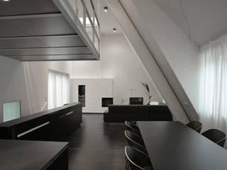 WOHN- UND GESCHÄFTSHAUS PIRNA Büro für Bauform Minimalistische Esszimmer