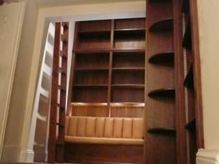 Bespoke Walnut Library: modern  by Simon Rickles Cabinet Making Ltd., Modern