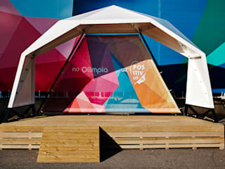 Olimpia Bus stop Modern event venues by ZILBERS DESIGN Modern