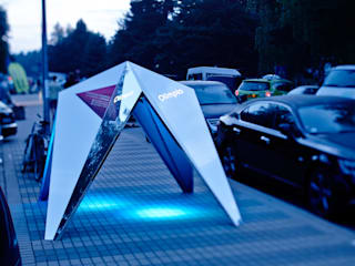 Bus stop point Modern event venues by ZILBERS DESIGN Modern