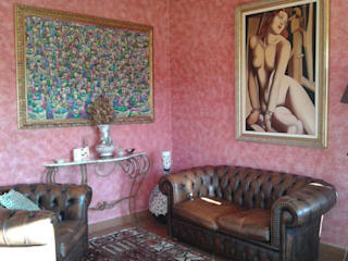 Villa Leporatti Soggiorno classico di Studio la Piramide Architettura e Urbanistica Classico